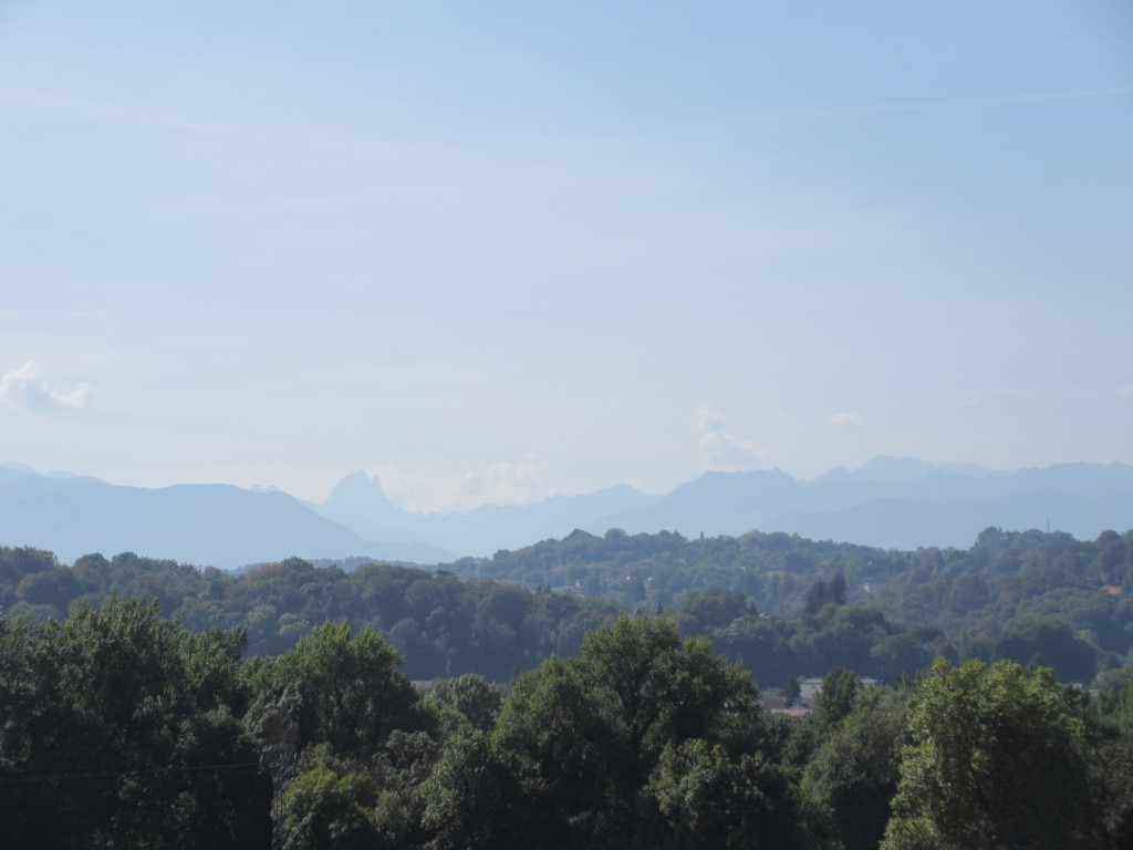 Pic du Midi d'Ossau from the Pau promenade - 30 miles to the south